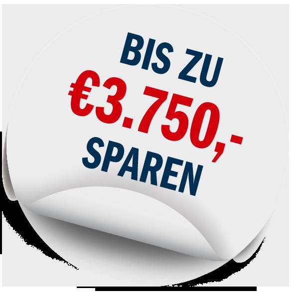 Bis zu €3.750,- sparen