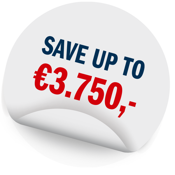 Save up to €3.750,-