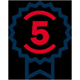 5 Jaar garantie icoon